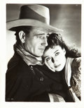 """Movie Posters:Western, John Wayne and Gail Russell in Angel and the Badman (Republic, 1947). Portrait Photo (8"""" X 10"""").. ..."""