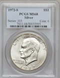 Eisenhower Dollars: , 1972-S $1 Silver MS68 PCGS. PCGS Population (1407/14). NGC Census: (322/4). Mintage: 2,193,056. Numismedia Wsl. Price for p...