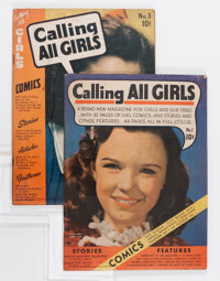 Calling All Girls #1 and 3 Group (Parents' Magazine Institute, 1941-42).... (Total: 2 Comic Books)