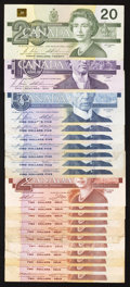 Canadian Currency: , Canada 1986 - 1991.. ... (Total: 20 notes)