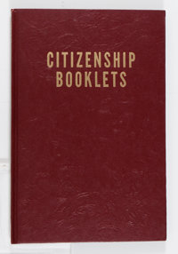 Harvey Citizenship Booklets Bound Volume (Harvey, 1945-54)