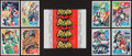 Non-Sport Cards:Sets, 1966 Topps Batman - Red and Blue Bat Complete Sets (2) PlusWrapper. ...