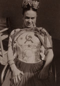 Photographs:20th Century, ANTONIO KAHLO (20th Century). Frida Kahlo, circa 1930. Platinum, printed later. 4-1/2 x 3-1/4 inches (11.4 x 8.3 cm). Ve...
