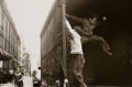 Photographs:20th Century, HELEN LEVITT (American, 1913-2009). New York (Boys Jumping Outof a Truck), circa 1945. Gelatin silver, printed later. 7...