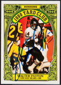 Football Cards:Singles (1970-Now), Walter Payton Signed Card....