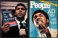 Boxing Collectibles:Autographs, Muhammad Ali Signed Photograph and Magazine Lot of 2....