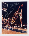 Basketball Collectibles:Photos, Kareem Abdul Jabbar and Wilt Chamberlain Multi Signed OversizedPhotograph....