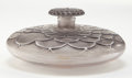 Art Glass:Lalique, R. LALIQUE CLEAR AND FROSTED GLASS LALO PERFUME BOTTLE WITHGRAY PATINA . Circa 1919. Molded: R. LALIQUE, FRANCE...