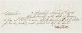 Autographs:Others, 1874 Alexander Cartwright Handwritten & Signed Check/Promissory Note....