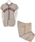 Baseball Collectibles:Uniforms, 1935 Tony Cuccinello Game Worn Brooklyn Dodgers Jersey withMatching Pants....