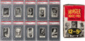 "Non-Sport Cards:Sets, 1963 Topps ""Monster Laffs"" Midgee High Grade 1st Series CompleteSet (108) Plus Display Box, Wrapper and Panel. ..."