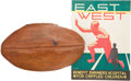 Football Collectibles:Programs, 1936 East - West Game Team Signed Football and Program....