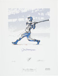Autographs:Others, 1996-98 Ted Williams & Joe DiMaggio Signed Serigraphs by CarlosBeninati Lot of 3....