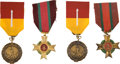 Militaria:Insignia, Republic of Vietnam: Four Medals, including: Two Army Meritorious Service Medals and Two Air Force Northern Expedi...