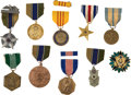 Military & Patriotic:Foreign Wars, United States: Ten Military Medals and Badges, including: Silver Star; Soldier's Medal, in older case; Army Milita...