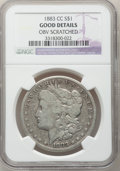 Morgan Dollars: , 1883-CC $1 --Obv Scratches--NGC Details. Good. NGC Census: (7/16223). PCGS Population (4/33637). Mintage: 1,204,000. Numisme...