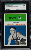 Basketball Cards:Singles (Pre-1970), 1961 Fleer Tommy Heinsohn #19 SGC 96 Mint 9 - Pop One with NoneHigher! ...