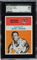 Basketball Cards:Singles (Pre-1970), 1961 Fleer Sam Jones #23 SGC 96 Mint 9 - Highest SGC GradeAvailable....