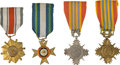 Militaria:Insignia, Republic of Vietnam: Four Military Medals, including: one Armed Forces Honor Medal, First Class; one Armed Forces ...