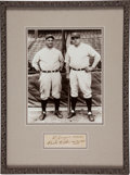 Autographs:Others, Circa 1930 Babe Ruth & Lou Gehrig Signed Display....