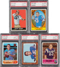 Football Cards:Singles (1960-1969), 1960's Topps & Fleer Jack Kemp PSA NM-MT 8 Collection (5)....