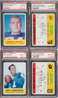 Football Cards:Lots, 1964 Philadelphia Football PSA-Graded Group (5). ...