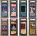 Football Collectibles:Tickets, 1983-98 Super Bowl Full Tickets Lot of 8, PSA NM-MT 8 ....