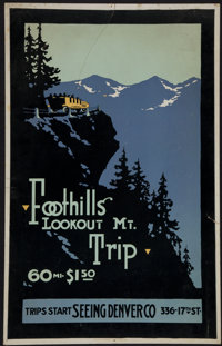 Foothills Lookout Mt. Trip Poster (Seeing Denver Co., c. 1916)
