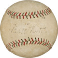 Autographs:Baseballs, Late 1920's Babe Ruth Signed Baseball....