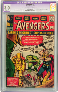 The Avengers #1 (Marvel, 1963) CGC Apparent GD/VG 3.0 Slight (A) Cream to off-white pages