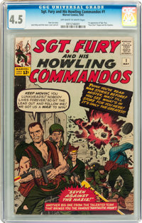 Sgt. Fury and His Howling Commandos #1 (Marvel, 1963) CGC VG+ 4.5 Off-white to white pages