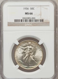 Walking Liberty Half Dollars: , 1936 50C MS66 NGC. NGC Census: (572/102). PCGS Population(771/112). Mintage: 12,617,901. Numismedia Wsl. Price forproblem...