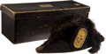 Military & Patriotic:Indian Wars, M1872, Near Mint, Boxed, New York State Officer's Chapeau....