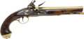 Handguns:Muzzle loading, C. 1780 Brass Mounted British Flintlock Holster Pistol....