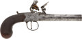 Handguns:Muzzle loading, Late 18th Century British Screw Barrel Center Hammer Coat or BeltPistol....