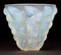 Art Glass:Lalique, R. LALIQUE OPALESCENT GLASS MOISSAC VASE . Circa 1927.Engraved: R. Lalique, France . 5-1/4 inches high (13....