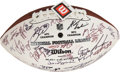 Football Collectibles:Balls, 2010 Pittsburgh Steelers Team Signed Super Bowl XLV Football - All Proceeds Donated to Guns & Hoses of North Texas. ...