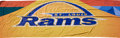 Football Collectibles:Others, 2000-10 St. Louis Rams Banners, Including Two Enormous Examples Hung at Super Bowl XXXIV....
