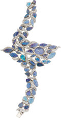 Estate Jewelry:Watches, Piaget Lady's Diamond, Opal, White Gold Wristwatch . ...