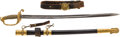 Edged Weapons:Swords, Very Fine Condition Inscribed Civil War US M1852 U. S. Navy Officer's Sword With the Original Belt. ...