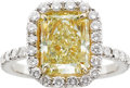 Estate Jewelry:Rings, Colored Diamond, Diamond, Platinum, Gold Ring. ...
