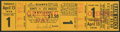 Baseball Collectibles:Tickets, 1958 Full Unused Ticket for First Ever West Coast Major LeagueGame....