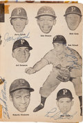 Autographs:Others, 1956 Baseball Pictorial Signed by Clemente, Koufax, More....