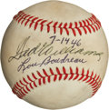 """Basketball Collectibles:Balls, 1946 Ted Williams and Lou Boudreau """"Williams Shift"""" Multi Signed Baseball...."""