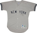 Autographs:Others, 1998 Derek Jeter Dual Signed Jersey....