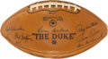 Football Collectibles:Balls, 1967 Green Bay Packers Team Signed Football - Mint Example from Super Bowl II Championship Season!...