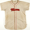 Baseball Collectibles:Uniforms, Circa 1950 Boston Red Sox Jersey Converted for Farm Club Use....