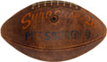 Football Collectibles:Balls, 1961 Ernie Davis Presentational Game Ball from Syracuse vs. University of Pittsburgh Game....