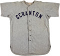 Baseball Collectibles:Uniforms, Circa 1950 Scranton Red Sox Game Worn Jersey....