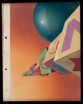 Animation Art:Production Drawing, Paul Julian Merrie Melodies Background Animation Art (WarnerBros., undated)....